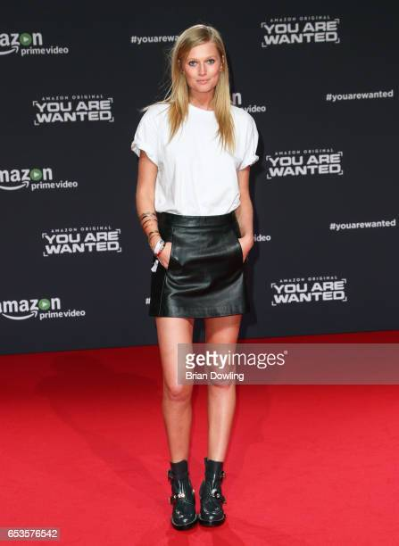 Toni Garrn arrives at Amazon Prime Video's premiere of the series 'You are Wanted' at CineStar on Marc