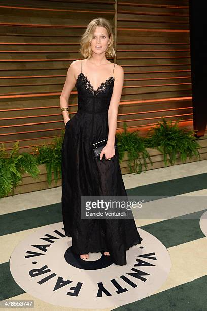 Toni Garrn arrives at the 2014 Vanity Fair Oscar Party Hosted By Graydon Carter on March 2 2014 in West Hollywood California