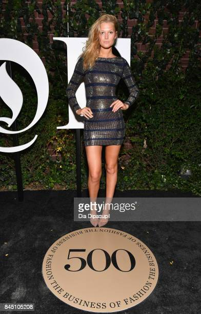 Toni Garrn arrives at the #BoF500 gala dinner during New York Fashion Week Spring/Summer 2018 at Public Hotel on September 9 2017 in New York City
