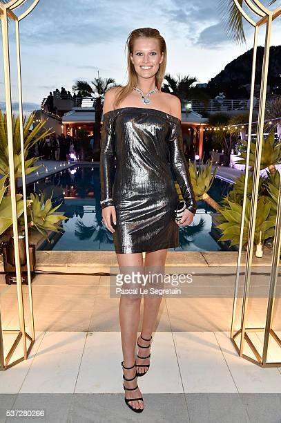Toni Garrn attends a BVLGARI press dinner during a fourday BVLGARI Brand Event on June 1 2016 in Monaco Monaco