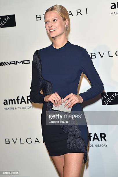 Toni Garrn attends amfAR Milano 2014 during Milan Fashion Week Womenswear Spring/Summer 2015 on September 20 2014 in Milan Italy