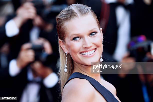 Toni Garrn attends attends the 'The Beguiled' screening during the 70th annual Cannes Film Festival at Palais des Festivals on May 24 2017 in Cannes...