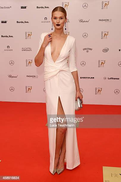 Toni Garrn attends Kryolan at the Bambi Awards 2014 on November 13 2014 in Berlin Germany