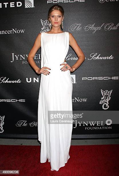 Toni Garrn attends the 2015 Angel Ball at Cipriani Wall Street on October 19 2015 in New York City