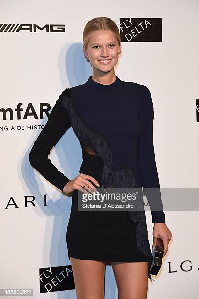 Toni Garrn attends the amfAR Milano 2014 Gala as part of Milan Fashion Week Womenswear Spring/Summer 2015 on September 20 2014 in Milan Italy