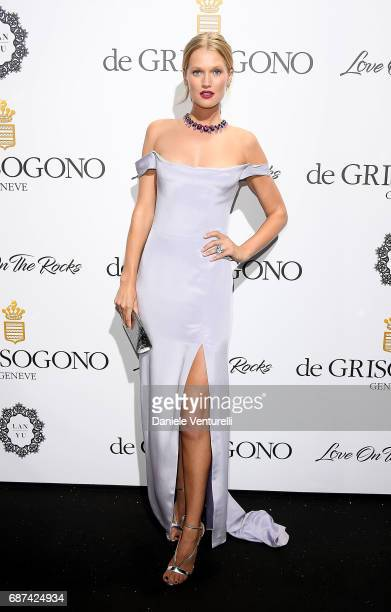 Toni Garrn attends the De Grisogono 'Love On The Rocks' party during the 70th annual Cannes Film Festival at Hotel du CapEdenRoc on May 23 2017 in...