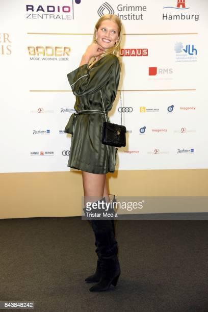 Toni Garrn attends the Deutscher Radiopreis at Elbphilharmonie on September 7 2017 in Hamburg Germany