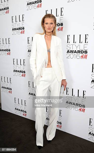 Toni Garrn attends The Elle Style Awards 2016 on February 23 2016 in London England