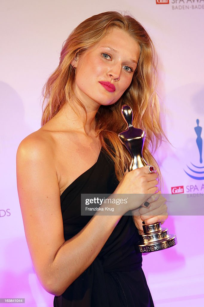 Toni Garrn attends the Gala Spa Award 2013 at the Brenners Park Hotel on March 16, 2013 in Berlin, Germany.