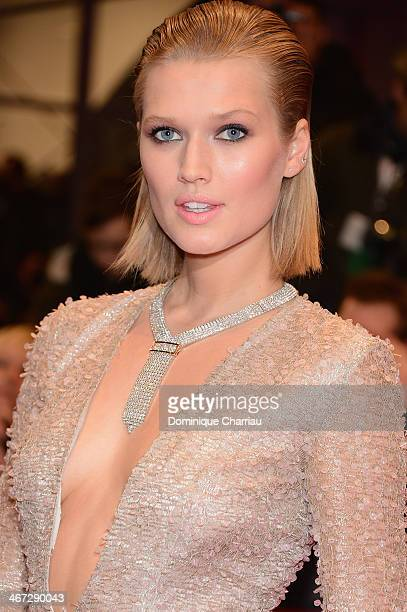 Toni Garrn attends 'The Grand Budapest Hotel' Premiere and opening ceremony during the 64th Berlinale International Film Festival at Berlinale Palast...