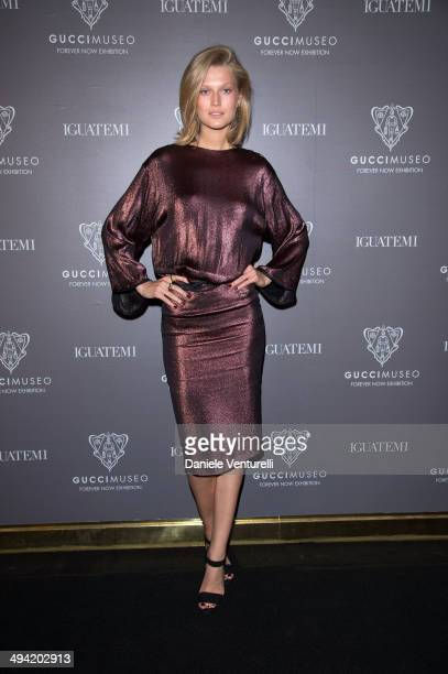 Toni Garrn attends the Gucci Museo 'Forever Now' exhibit opening at the House's first temporary museo in Sao Paulo's JK Iguatemi Mall on May 28 2014...
