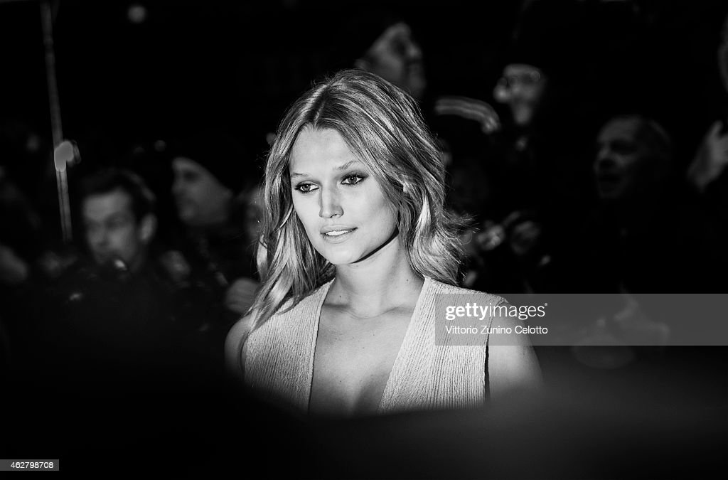 Toni Garrn attends the 'Nobody Wants the Night' Opening Night premiere during the 65th Berlinale International Film Festival at Berlinale Palace on...