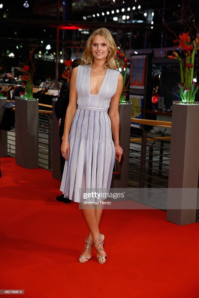 Toni Garrn attends the 'Nobody Wants the Night' premiere and Opening Ceremony of the 65th Berlinale International Film Festival at Berlinale Palace...