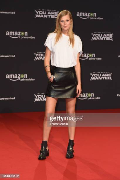Toni Garrn attends the premiere of the Amazon series 'You are wanted' at CineStar on March 15 2017 in Berlin Germany