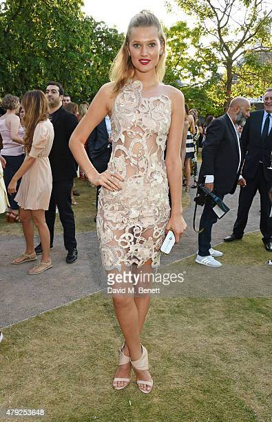 Toni Garrn attends The Serpentine Gallery summer party at The Serpentine Gallery on July 2 2015 in London England