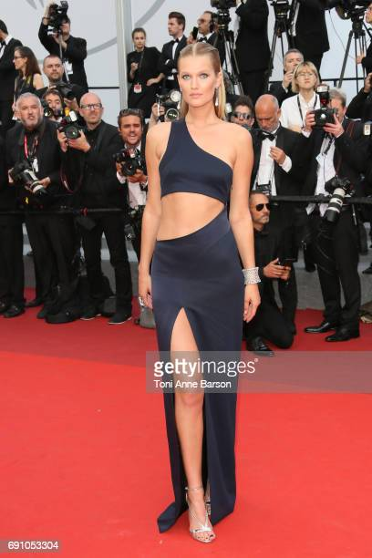 Toni Garrn attends the 'The Beguiled' screening during the 70th annual Cannes Film Festival at Palais des Festivals on May 24 2017 in Cannes France