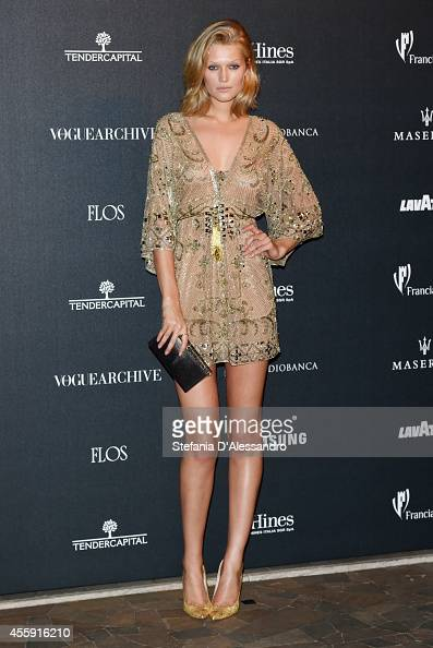 Toni Garrn attends Vogue Italia 50th Anniversary Event on September 21 2014 in Milan Italy