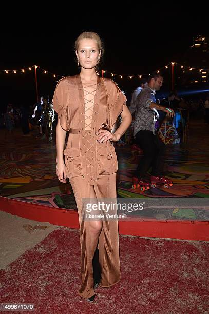 Toni Garrn attends W Magazine Art Basel Event at Faena Hotel on December 2 2015 in Miami Beach Florida