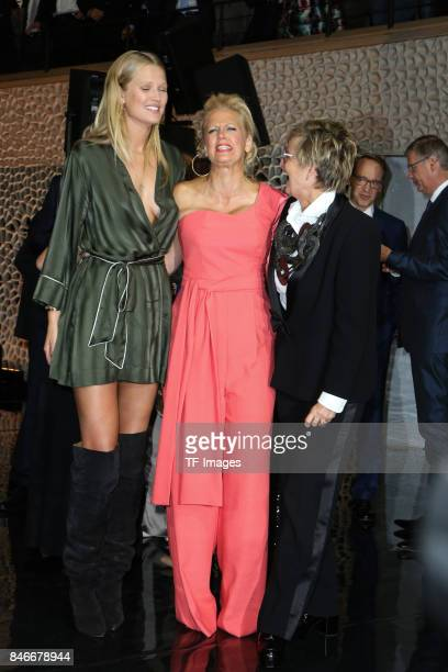 Toni Garrn Barbara Schoeneberger and Gloria von Thurn und Taxis attend the Deutscher Radiopreis at Elbphilharmonie on September 7 2017 in Hamburg...