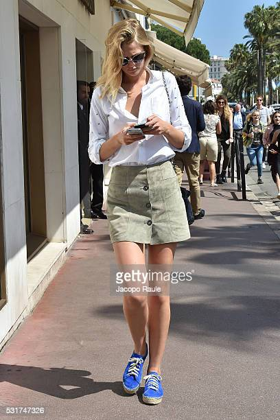 Toni Garrn is seen during the annual 69th Cannes Film Festival at on May 16 2016 in Cannes France