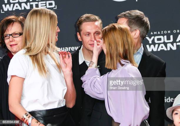 Toni Garrn Matthias Schweighoefer and Karoline Herfurth arrives at Amazon Prime Video's premiere of the series 'You are Wanted' at CineStar on March...