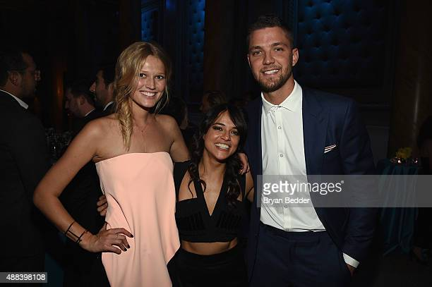 Toni Garrn Michelle Rodriguez and Chandler Parsons attend the Unitas gala against Sex Trafficking at Capitale on September 15 2015 in New York City