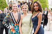 Toni Garrn Petra Nemcova and Jourdan Dunn attend the amfAR 22nd Annual Cinema Against AIDS Gala at Hotel du CapEdenRoc on May 21 2015 in Cap...