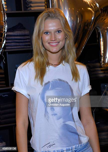 Toni Garrn presents Streetwear Collection of Closed at the Flagshipstore on November 6 2014 in Hamburg Germany