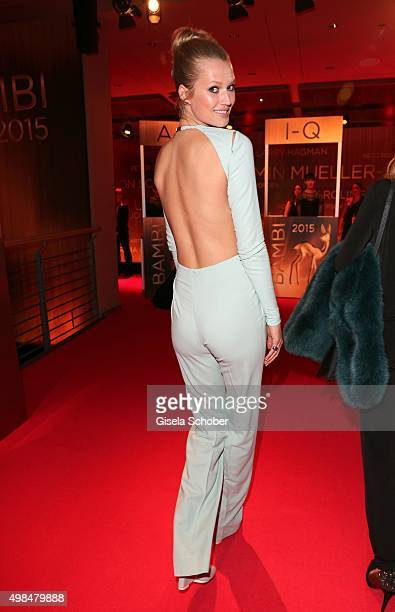 Toni Garrn wearing an overall by Aigner during the Bambi Awards 2015 at Stage Theater on November 12 2015 in Berlin Germany
