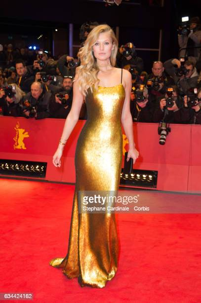 Toni Garrn wearing Boss attends the 'Django' premiere during the 67th Berlinale International Film Festival Berlin at Berlinale Palace on February 9...