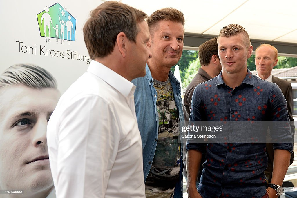 toni kroos foundation launch press conference getty images. Black Bedroom Furniture Sets. Home Design Ideas