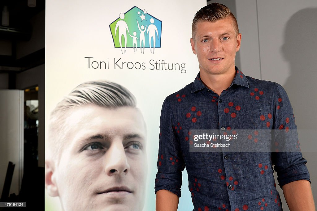 <a gi-track='captionPersonalityLinkClicked' href=/galleries/search?phrase=Toni+Kroos&family=editorial&specificpeople=638597 ng-click='$event.stopPropagation()'>Toni Kroos</a> looks on during the launch press conference of the <a gi-track='captionPersonalityLinkClicked' href=/galleries/search?phrase=Toni+Kroos&family=editorial&specificpeople=638597 ng-click='$event.stopPropagation()'>Toni Kroos</a> Foundation at Club Astoria on July 2, 2015 in Cologne, Germany.
