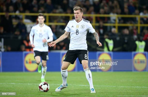 Toni Kroos of Germany in action during the international friendly match between Germany and England at Signal Iduna Park on March 22 2017 in Dortmund...