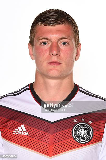 Toni Kroos of Germany poses during the official FIFA World Cup 2014 portrait session on June 8 2014 in Salvador Brazil
