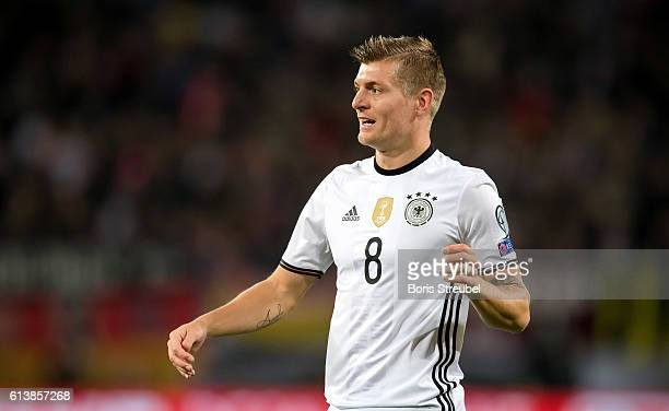 Toni Kroos of Germany reacts during the FIFA World Cup 2018 qualifying match between Germany and Czech Republic at Volksparkstadion on October 8 2016...