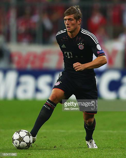 Toni Kroos of Muenchen controles the ball during the UEFA Champions League group F match between FC Bayern Muenchen and Valencia CF at Allianz Arena...