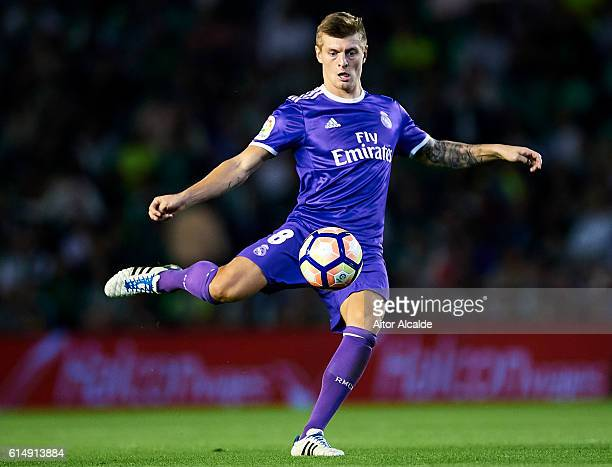 Toni Kroos of Real Madrid CF in action during the match between Real Betis Balompie and Real Madrid CF as part of La Liga at Benito Villamrin stadium...