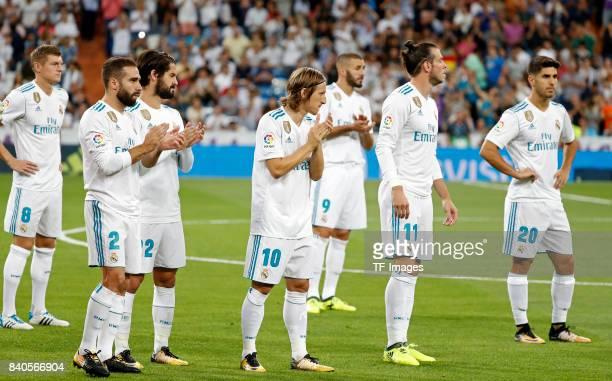 Toni Kroos of Real Madrid Dani Carvajal of Real Madrid Isco Alarcón of Real Madrid Luka Modric of Real Madrid Gareth Bale of Real Madrid Karim...