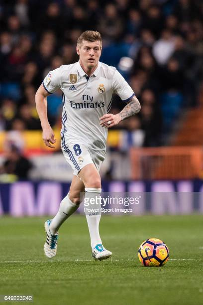 Toni Kroos of Real Madrid during their La Liga match between Real Madrid vs Las Palmas at the Santiago Bernabeu Stadium on 01 March 2017 in Madrid...