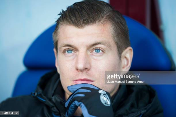 Toni Kroos of Real Madrid looks on prior to the start the La Liga match between SD Eibar and Real Madrid at Ipurua Municipal Stadium on March 4 2017...