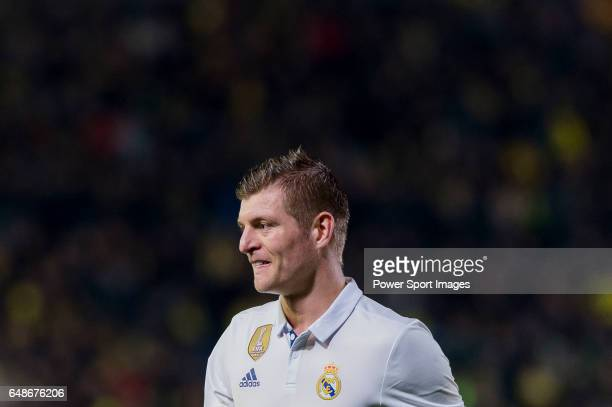Toni Kroos of Real Madrid reacts during their La Liga match between Villarreal CF and Real Madrid at the Estadio de la Cerámica on 26 February 2017...