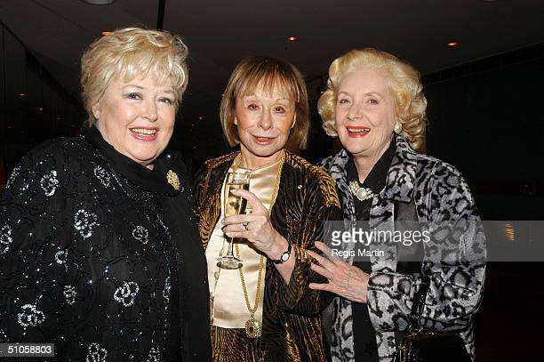 Toni Lamond Jeanne Pratt and Val Jellay attend the after party for the opening night of the musical High Society at the State Theatre July 14 2004 in...