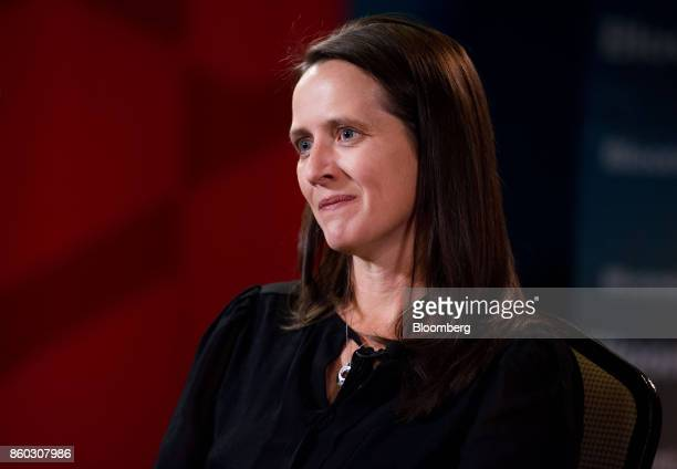 Toni Reid head of Alexa at Amazoncom Inc listens during a Bloomberg Television interview at the GeekWire Summit in Seattle Washington US on Wednesday...