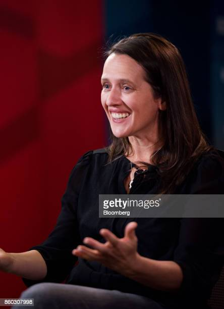 Toni Reid head of Alexa at Amazoncom Inc smiles during a Bloomberg Television interview at the GeekWire Summit in Seattle Washington US on Wednesday...