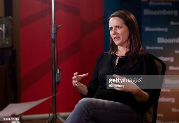 Toni Reid head of Alexa at Amazoncom Inc speaks during a Bloomberg Television interview at the GeekWire Summit in Seattle Washington US on Wednesday...