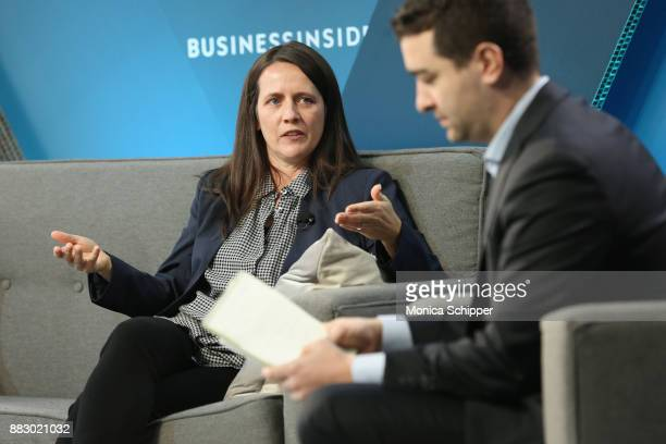 Toni Reid VP of Alexa Experience and Echo Devices at Amazon speaks onstage with Steve Kovach at IGNITION Future of Media at Time Warner Center on...
