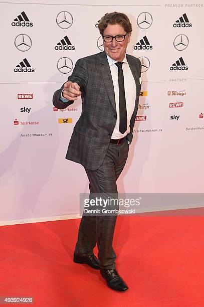 Toni Schumacher arrives for the Opening Gala of the German Football Museum on October 23 2015 in Dortmund Germany