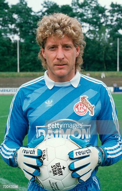 Toni Schumacher of Cologne poses during the photo call and team presentation of 1 FC Cologne on July 01 1985 in Cologne Germany