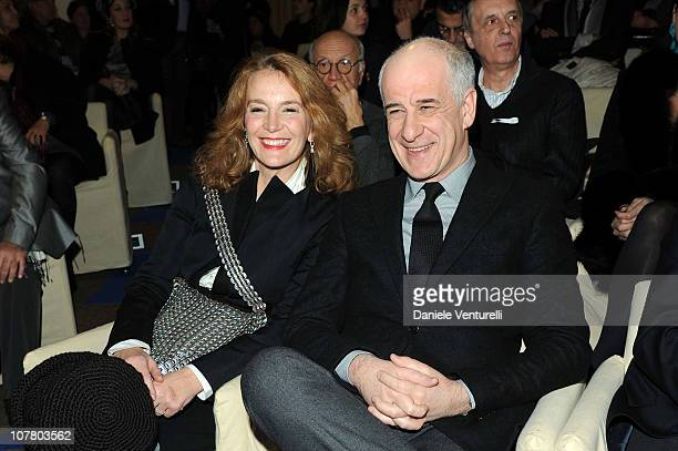 Toni Servillo and his wife attend the second day of the 15th Annual Capri Hollywood International Film Festival on December 28 2010 in Capri Italy