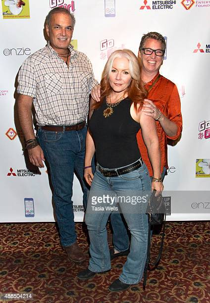 Toni Smalley Sorian Newberry and Karen Creitz arrive at Premiere Party For 'Liv Out Loud' at Akbar on September 14 2015 in Los Angeles California